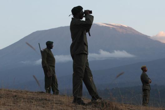 Anti-poaching walking unit in Enduimet